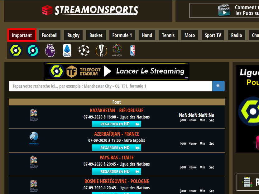 streamonsport sport direct